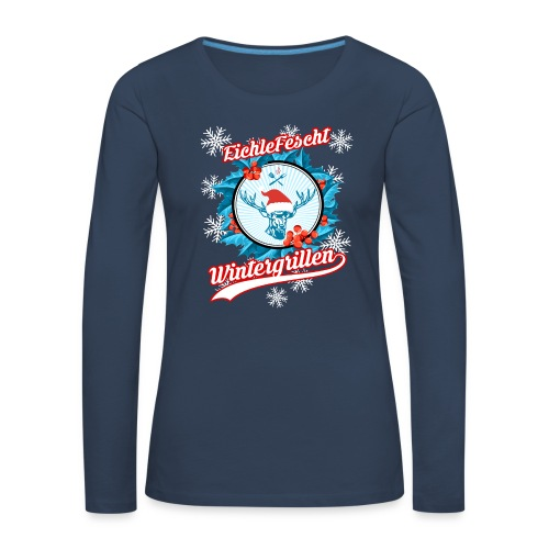 Das Wintergrill Shirt EichleFescht 2018 für die Dame - Frauen Premium Langarmshirt