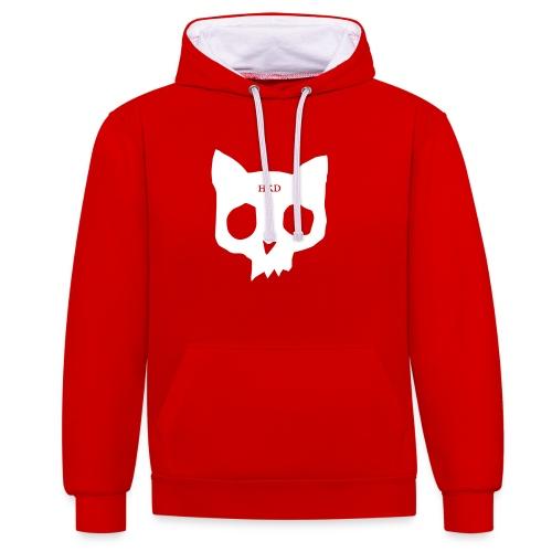 Hoodie red - Contrast Colour Hoodie