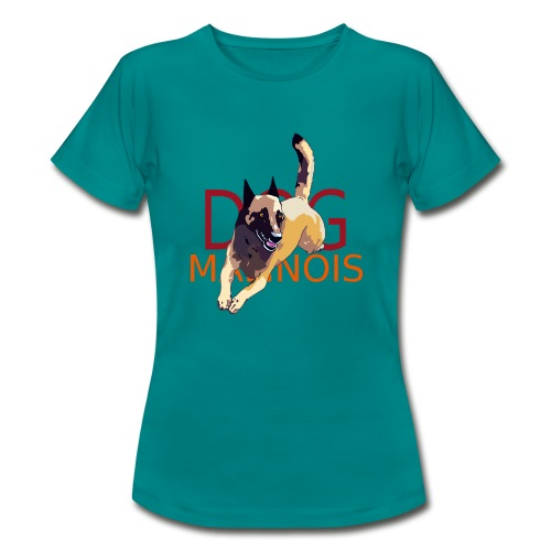tee shirt dog malinois - T-shirt Femme