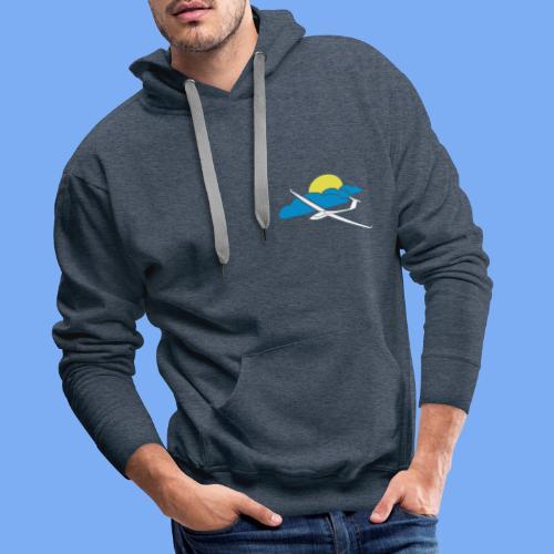 Flieschen Logo Segelflieger Geschenk - Men's Premium Hoodie