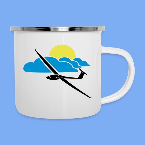 Flieschen Logo Segelflieger Geschenk - Camper Mug