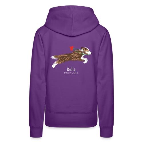 Bella custom design (print on reverse) - Women's Premium Hoodie