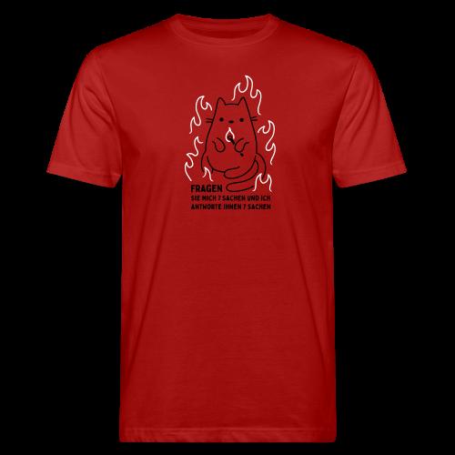 Fragen Sie mich 7 Sachen und ich antworte Ihnen 7 Sachen - Männer Bio-T-Shirt