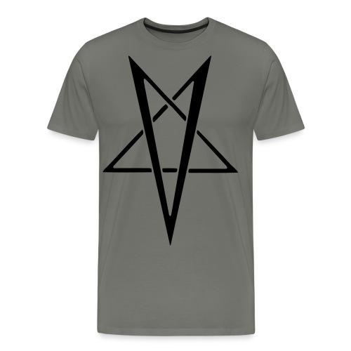 Men's Premium T-Shirt - Classic Vrangsinn pentagram as worn on stage with Carpathian Forest