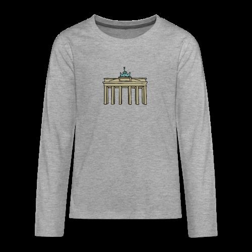 Brandenburger Tor Berlin - Teenager Premium Langarmshirt
