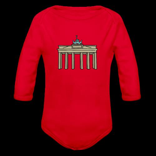 Brandenburger Tor Berlin - Baby Bio-Langarm-Body