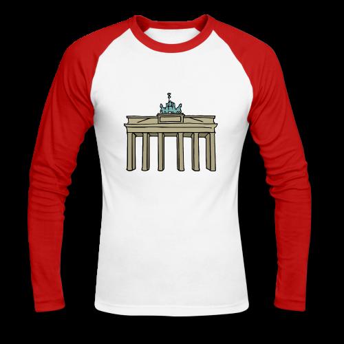 Brandenburger Tor Berlin - Männer Baseballshirt langarm