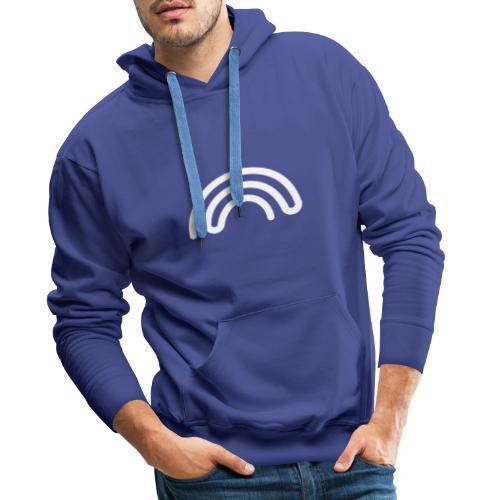 DBNA Regenbogen-Hoodie mit URL auf dem Rücken - Männer Premium Hoodie