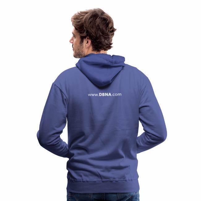 DBNA Regenbogen-Hoodie mit URL auf dem Rücken