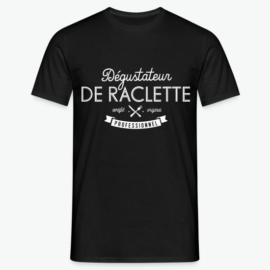 T-shirt Raclette-Schnupper noir par Tshirt Family