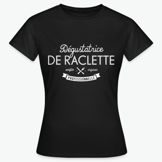 Tee shirt Professioneller Raclette-Schnupper noir par Tshirt Family