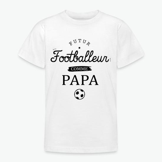 T-shirt Futur Footballeur blanc par Tshirt Family