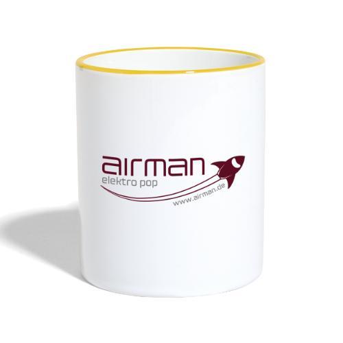 airman Logo - Tasse zweifarbig - Tasse zweifarbig