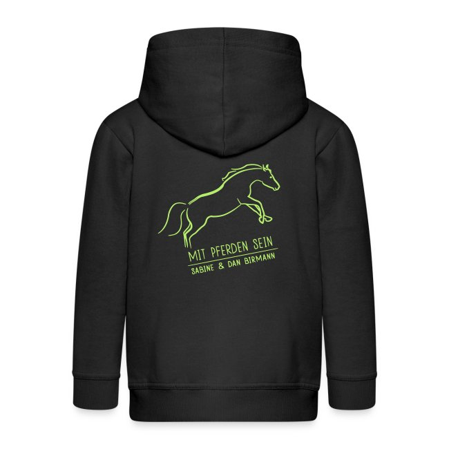 Back Running Horse  ( Print light green)