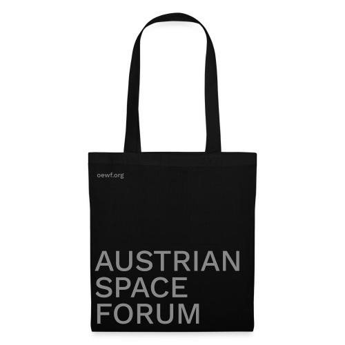 ÖWF Tasche glitzer-grau / bag glitter grey - Stoffbeutel