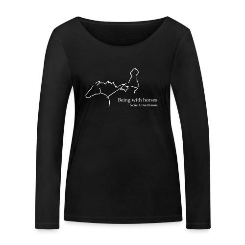 MPS Rider ( Print Digital White)  - Frauen Bio-Langarmshirt von Stanley & Stella