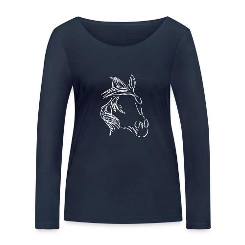 Dreamhorse ( Print  Digital White) - Frauen Bio-Langarmshirt von Stanley & Stella
