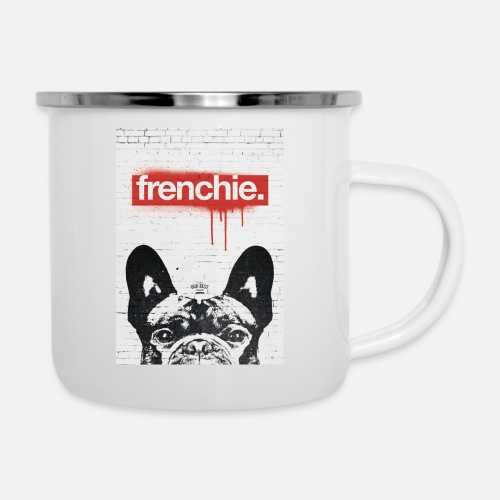 Frenchie Streetart Part 2 - Emaille-Tasse