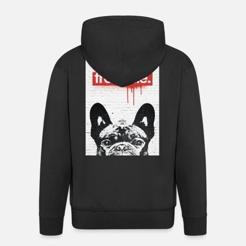Frenchie Streetart Part 2 - Männer Premium Kapuzenjacke