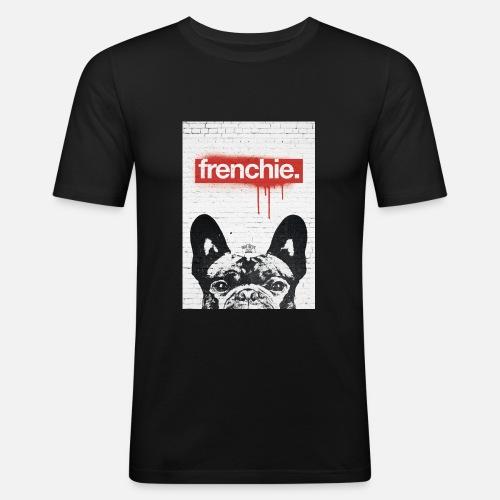 Frenchie Streetart Part 2 - Männer Slim Fit T-Shirt