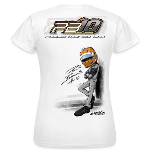 PB10 WHITE female - Frauen T-Shirt