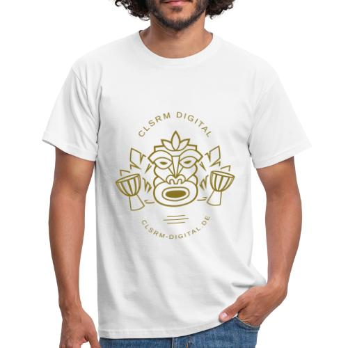 Mens T-Shirt Totemic 1c Gold - Männer T-Shirt