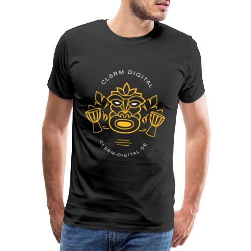 Mens T-Shirt Print Totemic 2c Yellow / White - Männer Premium T-Shirt