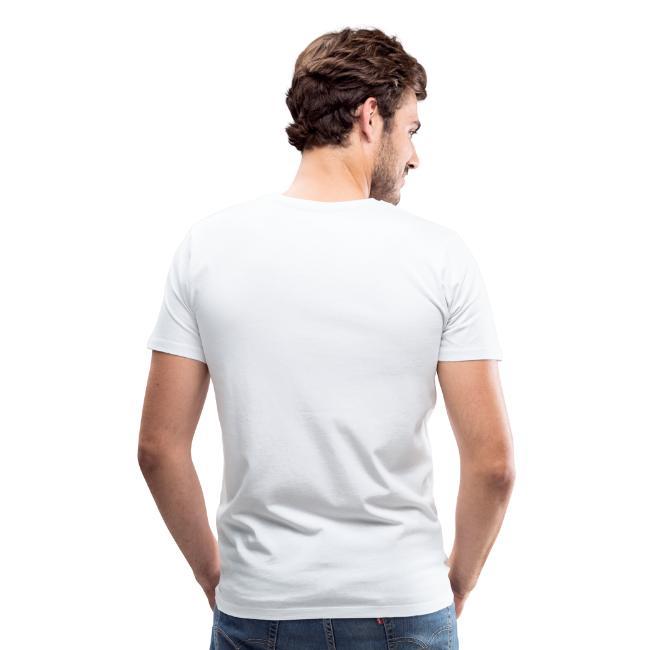 "Mens T-Shirt Badge ""Electronic Music"" 1c Blue"