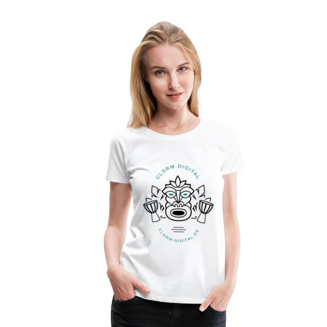 Womans T-Shirt Totemic 2c Black / Turquoise