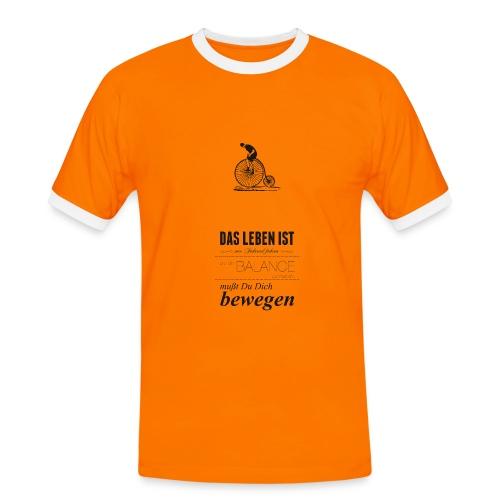 Bewegung - Männer Kontrast-T-Shirt