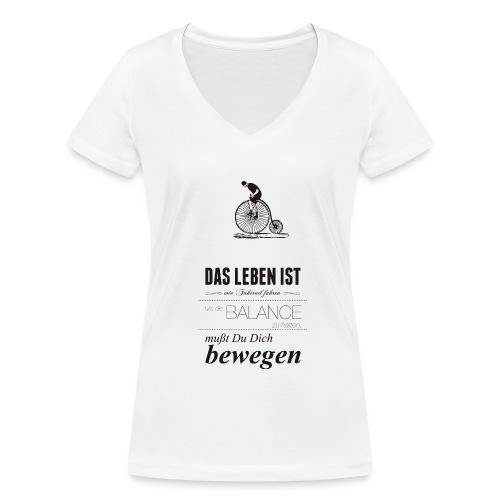Bewegung - Frauen Bio-T-Shirt mit V-Ausschnitt von Stanley & Stella