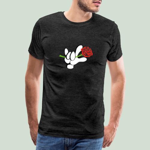 ILY mit Rose - Männer Premium T-Shirt