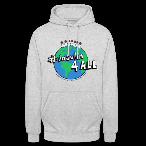 Unisex #insulin4all The Diabetic Survivor globe hoodie - Unisex Hoodie