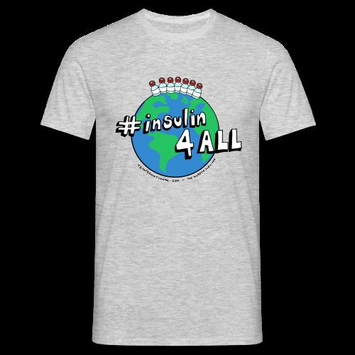 Men's #insulin4all The Diabetic Survivor globe t-shirt - Men's T-Shirt