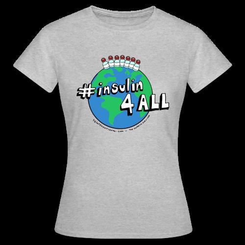 Women's #insulin4all The Diabetic Survivor globe t-shirt - Women's T-Shirt