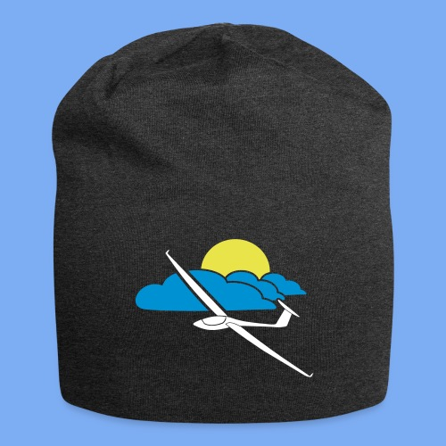 Flieschen Logo Segelflieger Geschenk - Jersey Beanie