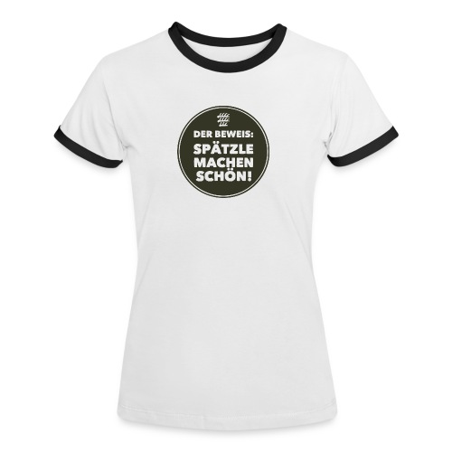 Beweis - Mädle - Frauen Kontrast-T-Shirt