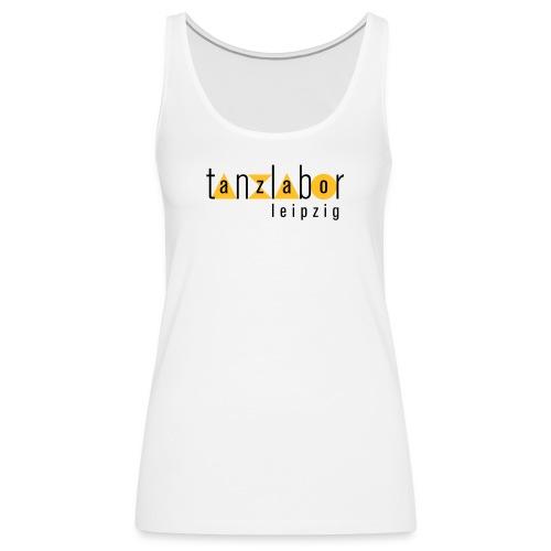 Tanzlabor Frauen Tank Top (weiß-gelb) - Frauen Premium Tank Top