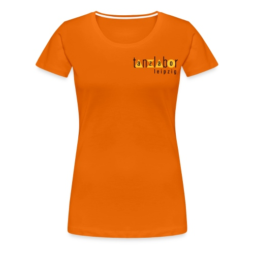 Tanzlabor Frauen T-Shirt (orange-gelb) - Frauen Premium T-Shirt