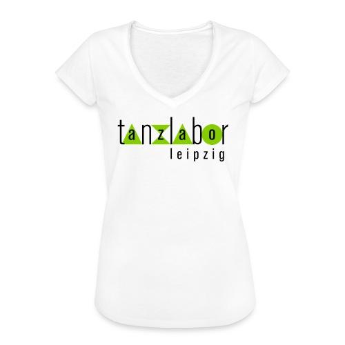 Tanzlabor Frauen Vintage T-Shirt (weiß-grün) - Frauen Vintage T-Shirt