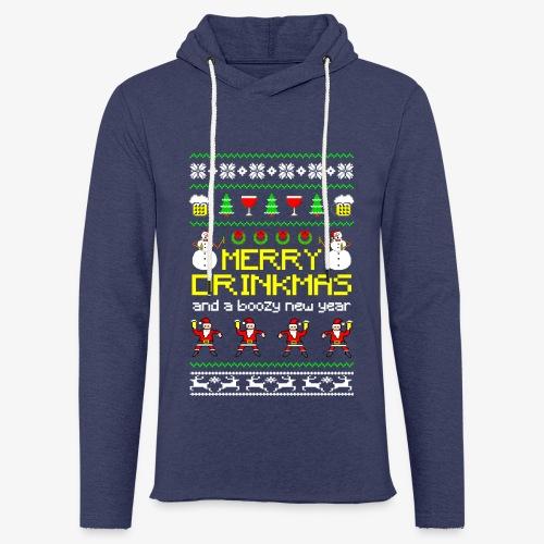 Leichtes Kapuzensweatshirt Unisex Merry Drinkmas Ugly Xmas - Leichtes Kapuzensweatshirt Unisex