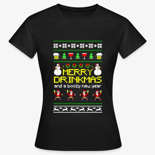 Frauen T-Shirt Merry Drinkmas Ugly Xmas - Frauen T-Shirt