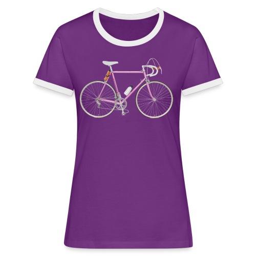Rennrad 80er Jahre - Frauen Kontrast-T-Shirt