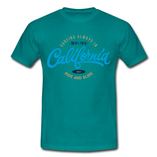 Surfing Malibu RS turquoise - T-shirt Homme