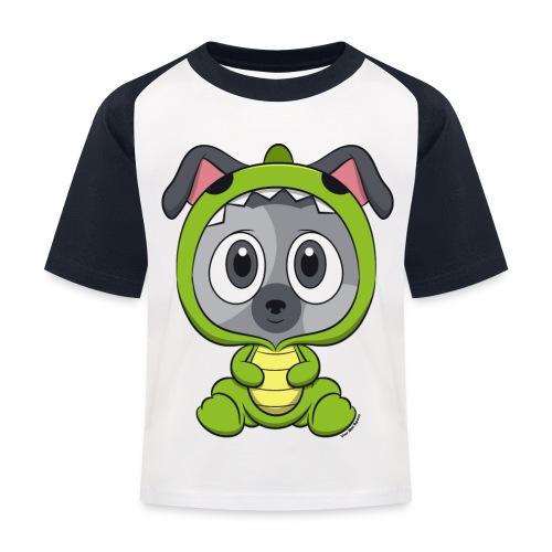 Kinder Kontrast T-Shirt - Dino Frutilla - Vier Mal Spass - Kinder Baseball T-Shirt