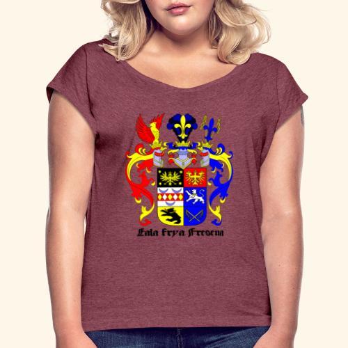 Ostfriesen-shirt - Frauen T-Shirt mit gerollten Ärmeln