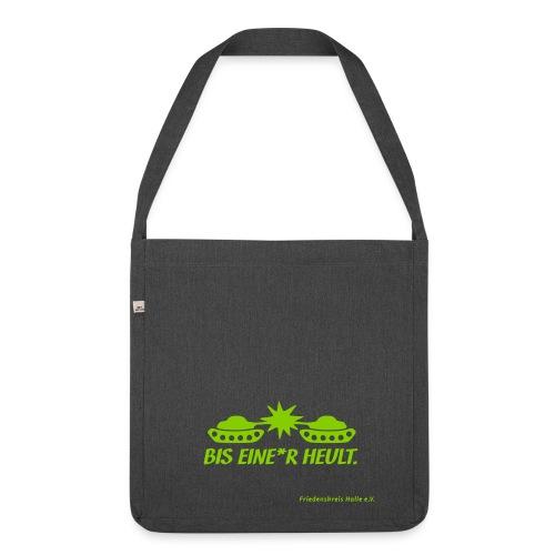 Recycling-Tasche BIS EINE*R HEULT - Schultertasche aus Recycling-Material