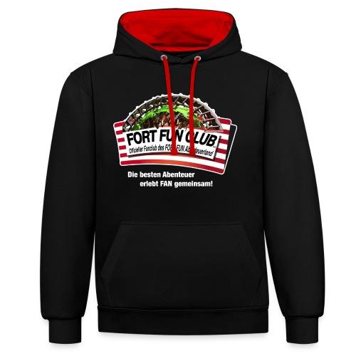 +++ NEU +++ - FORT FUN Club-Kontrast-Hoodie - Unisex - Special Edition - Kontrast-Hoodie
