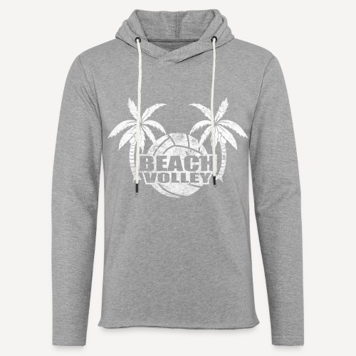 Beach volley Palms - Felpa con cappuccio leggera unisex