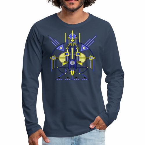 Navota design Robot - Mannen Premium shirt met lange mouwen